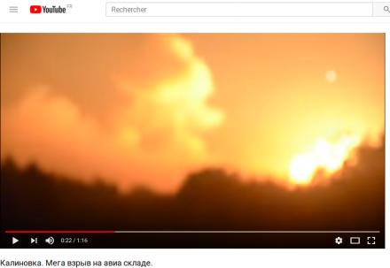 Arsenals explosions in Ukraine : depleted uranium contamination risk (Kalinovka, Balakliia...) - Kalinovka explosion as explanation for fission products in Europe in Autumn 2017