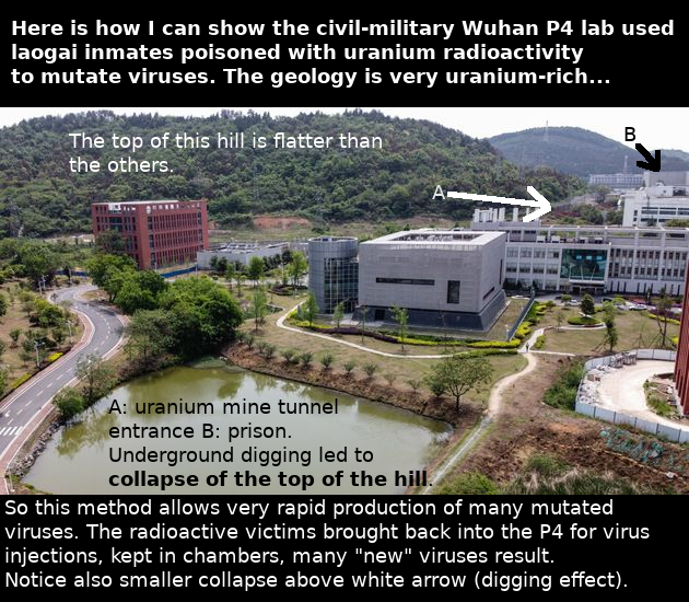 Wuhan P4 uranium mine slide